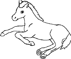 Coloriage Cheval Couch�