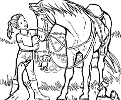 Coloriage Cheval et Calvali�re