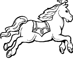 Coloriage Cheval grand galop