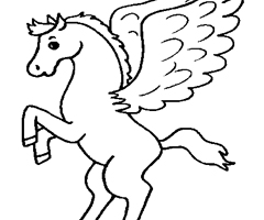 Coloriage Cheval P�gase