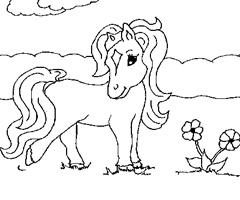 Coloriage Cheval poney