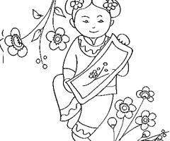 Coloriage Chinoise