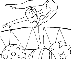 Coloriage Cirque Acrobate