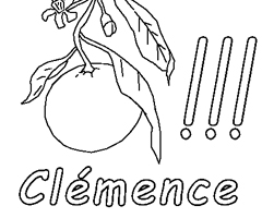 Coloriage Cl�mence