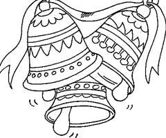 Coloriage Cloches Paques