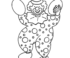Coloriage Clown Carnaval