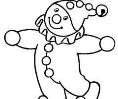 Coloriage Clown Maternelle