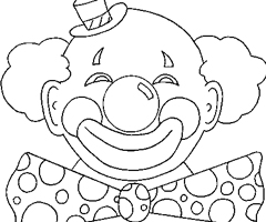 Coloriage Clown Rigolo