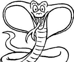 Coloriage Cobra