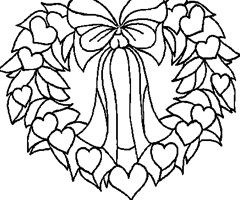 Coloriage Coeur de No�l