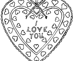 Coloriage Coeur Love
