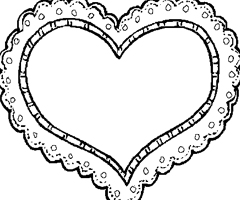 Coloriage Coeur Simple