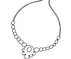 Coloriage Collier perles
