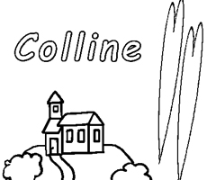 Coloriage Colline