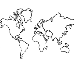 Coloriage Continents