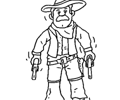 Coloriage Cow Boy