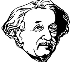 Coloriage Einstein
