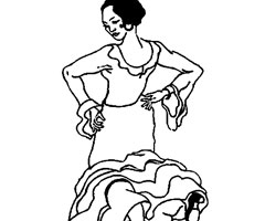 Coloriage Flamenco