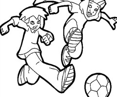 Coloriage football en ligne gatuit dessins football colorier ou imprimer lol guru sur lol net - Coloriage equipe de foot ...