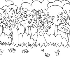 Coloriage Foret