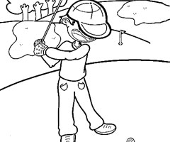 Coloriage Golf