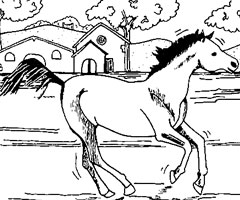 Coloriage Grand Galop