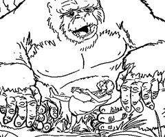 Coloriage King Kong