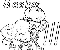 Coloriage Maelys