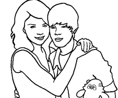 Coloriage Miley Justin