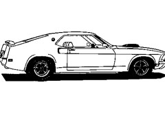 Coloriage Mustang