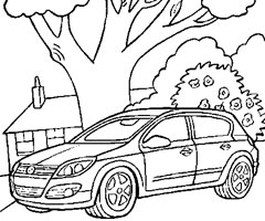 Coloriage Opel