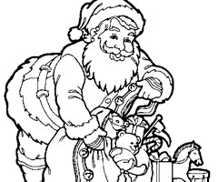 Coloriage Papa No�l