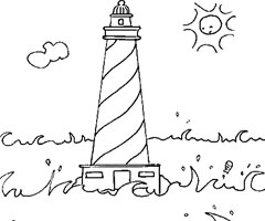 Coloriage Phare