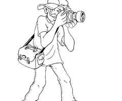Coloriage Photographe
