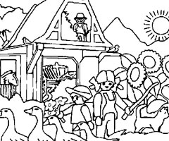 Coloriage Playmobil Foot.Coloriage Playmobil En Ligne Gratuit Dessin Playmobil A