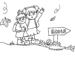 Coloriage Rentr�e �cole