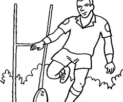 Coloriage Rugbyman