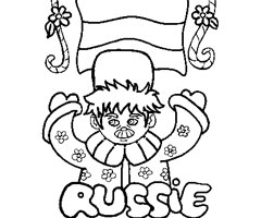 Coloriage Russie