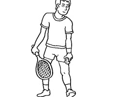 Coloriage Tennisman