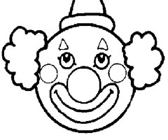 Coloriage T�te De Clown