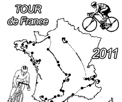 Coloriage Tour de France 2011