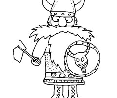Coloriage Viking