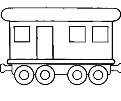 Coloriage Wagon