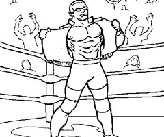 Coloriage Wwe Catch