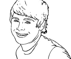 Coloriage Zac Efron