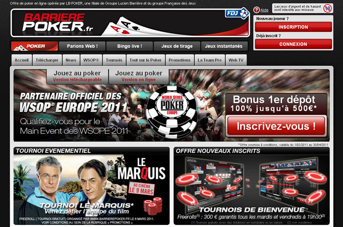 Site Barriere Poker
