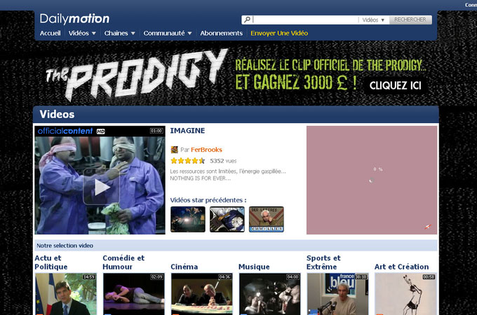 Site Dailymotion