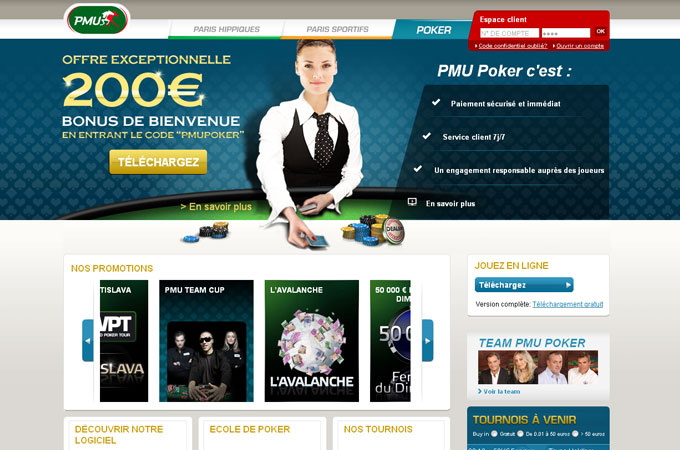Site Poker PMU