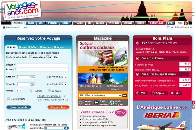 Site Voyages-Sncf