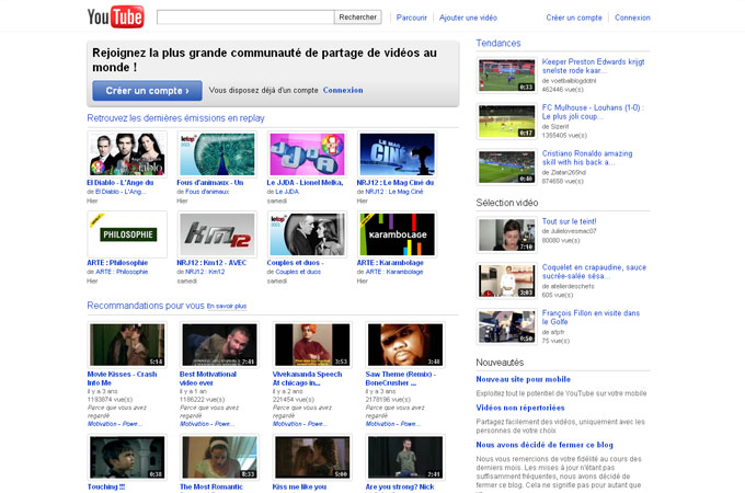 Site YouTube
